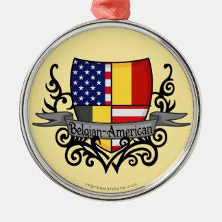 Bandera Belga-Americana del escudo Ornamento Para Reyes Magos