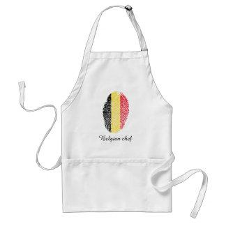 Bandera belga de la huella dactilar del tacto delantal