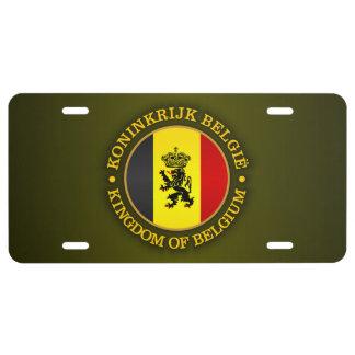 Bandera belga del estado placa de matrícula