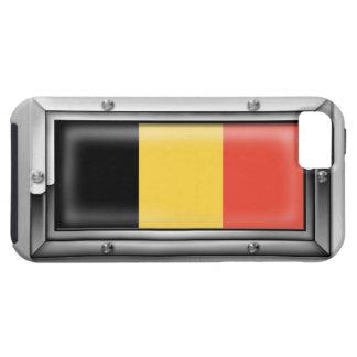 Bandera belga en un marco de acero funda para iPhone SE/5/5s