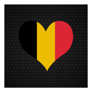 Bandera belga moderna perfect poster