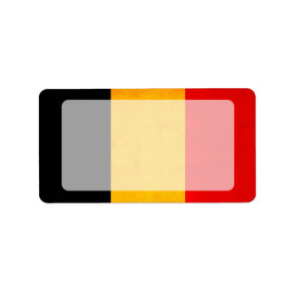Bandera belga nerviosa moderna etiquetas de dirección