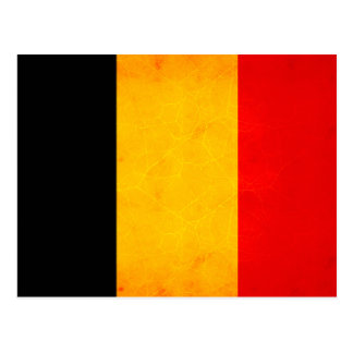 Bandera belga nerviosa moderna postal