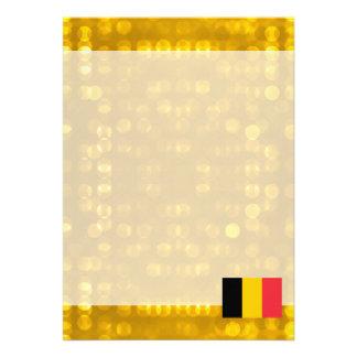 """Bandera belga oficial invitación 5"""" x 7"""""""