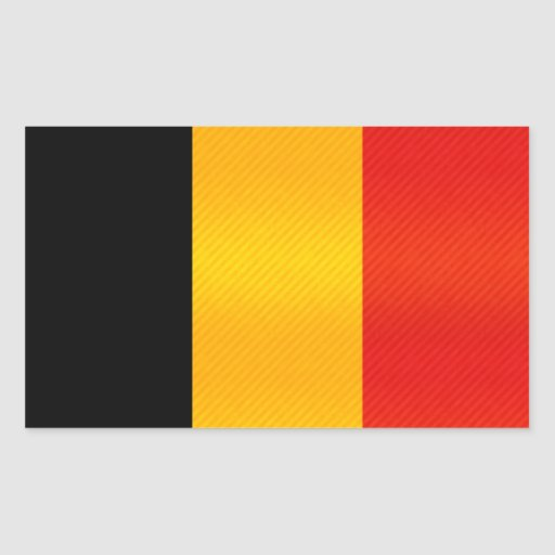 Bandera belga pelada moderna pegatina rectangular