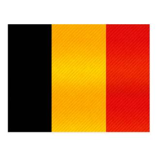 Bandera belga pelada moderna postal