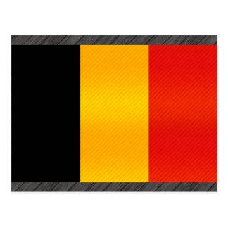 Bandera belga pelada moderna tarjeta postal
