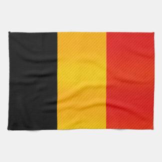 Bandera belga pelada moderna toallas de cocina