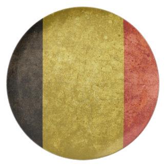 Bandera belga plato