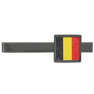 Bandera belga rascada y rasguñada alfiler de corbata plomizo