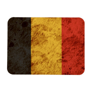 Bandera belga rugosa imán rectangular