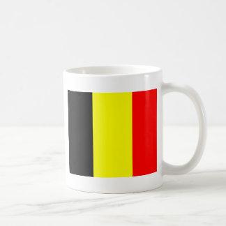 Bandera belga taza básica blanca