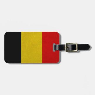 Bandera Bélgica Belga Etiqueta Para Equipaje