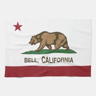 Bandera Bell del estado de California Toallas