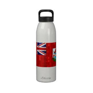 Bandera bermude6na de madera botellas de agua reutilizables