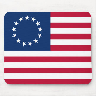 bandera betsy de los E.E.U.U. Alfombrillas De Ratones