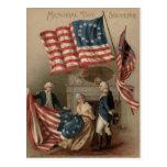 Bandera Betsy Ross George Washington de los E.E.U. Postales