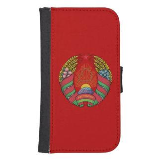 Bandera bielorrusa billeteras para teléfono