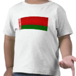 Bandera bielorrusa pelada moderna camiseta
