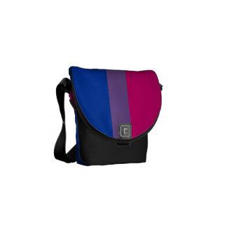 Bandera bisexual del orgullo bolsas messenger