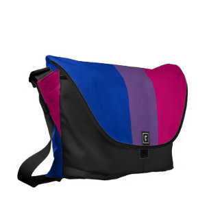 Bandera bisexual del orgullo bolsas de mensajería
