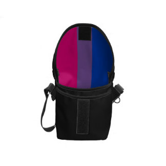 Bandera bisexual del orgullo bolsas de mensajeria
