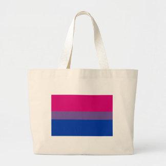 Bandera bisexual del orgullo bolsa tela grande
