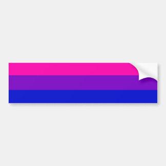 Bandera bisexual del orgullo pegatina de parachoque