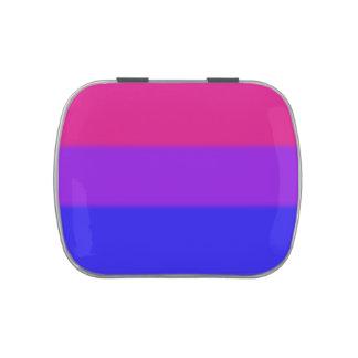 Bandera bisexual del orgullo de Falln Frascos De Caramelos