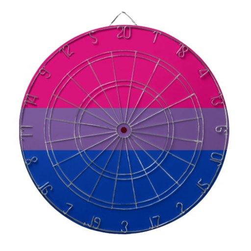 Bandera bisexual del orgullo del BI Tablero De Dardos