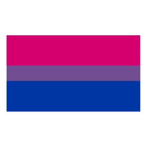 Bandera bisexual del orgullo del BI Tarjeta De Visita