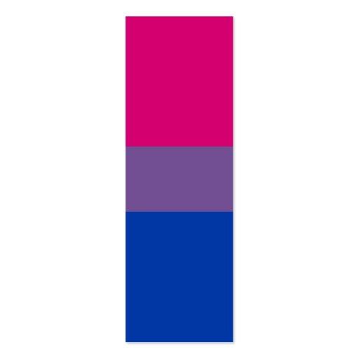 Bandera bisexual del orgullo del BI Plantillas De Tarjetas De Visita