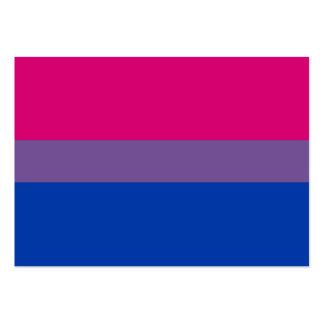 Bandera bisexual del orgullo del BI Tarjetas De Visita Grandes