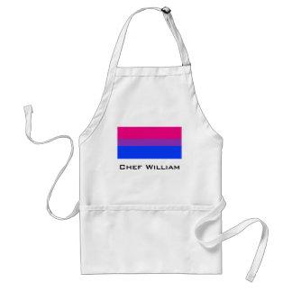 Bandera bisexual del orgullo delantal