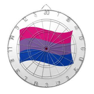 Bandera bisexual del orgullo tabla dardos