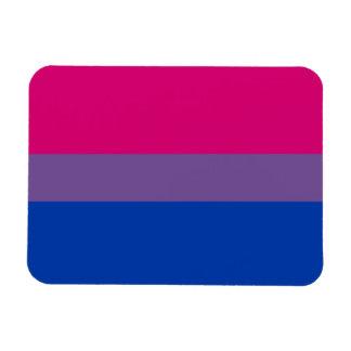Bandera bisexual del orgullo imán foto rectangular