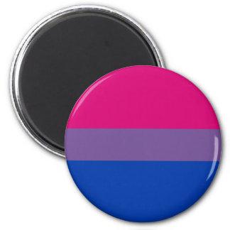 Bandera bisexual del orgullo imán redondo 5 cm