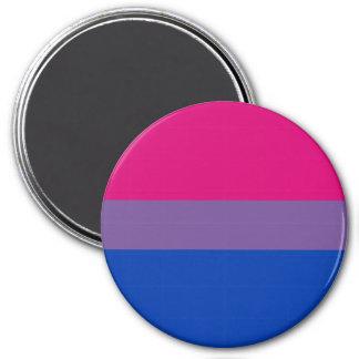 Bandera bisexual del orgullo imán redondo 7 cm