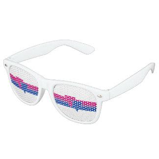 Bandera bisexual del orgullo lentes de sol