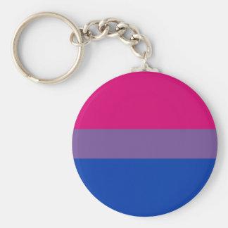 Bandera bisexual del orgullo llavero personalizado