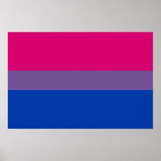Bandera bisexual del orgullo impresiones