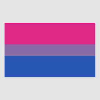 Bandera bisexual del orgullo pegatina rectangular