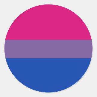 Bandera bisexual del orgullo pegatina redonda
