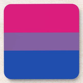 Bandera bisexual del orgullo posavasos de bebidas