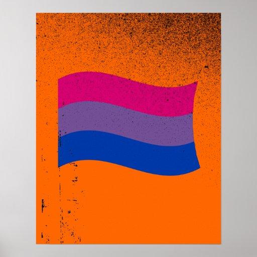 Bandera bisexual del orgullo póster
