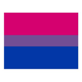 Bandera bisexual del orgullo postales