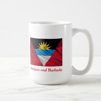 Bandera blanca clásica de la taza de Antigua y de