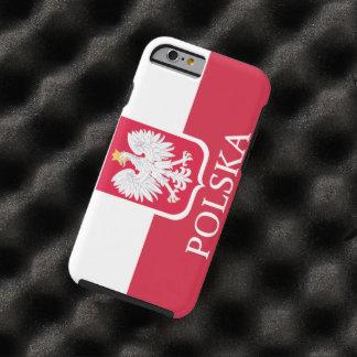Bandera blanca de Polska Eagle Funda Resistente iPhone 6