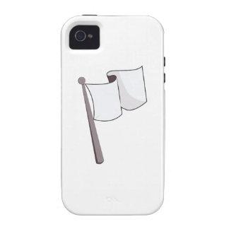 Bandera blanca que agita Case-Mate iPhone 4 funda