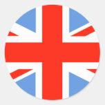 Bandera blanca y azul roja de Union Jack Reino Uni Etiqueta